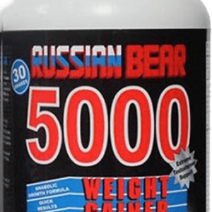 RUSSIAN BEAR 5000 30 SHAKE WEIGHT GAIN PROGRAM delivers the ultimate calorie content for body building or those who just want to gain weight.